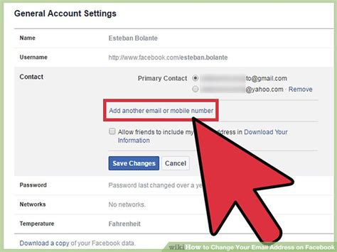 3 Ways To Change Your Email Address On Facebook Wikihow