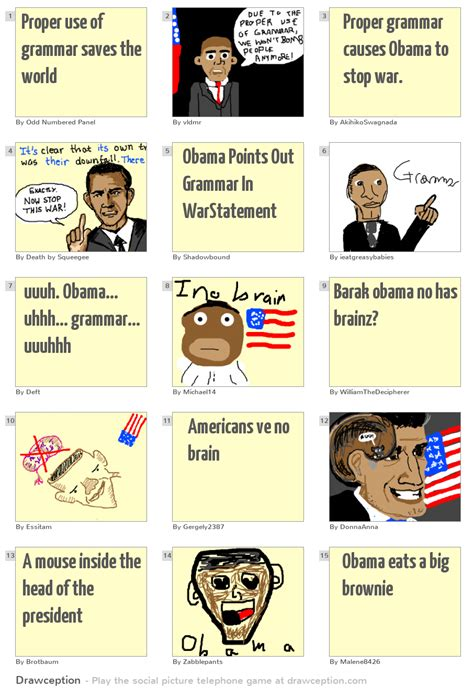 Proper Use Of Grammar Saves The World Drawception