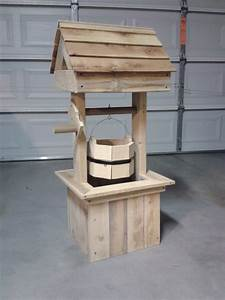 Woodwork Wishing Well Planters PDF Plans