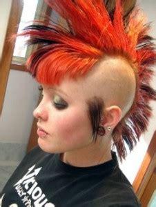 orange mohawk   hair