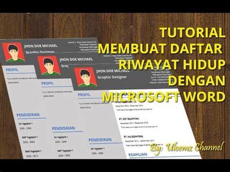 tutorial membuat resume cv  microsoft word versi