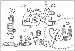 I Love You Valentines Coloring Pages | Realistic Coloring ...