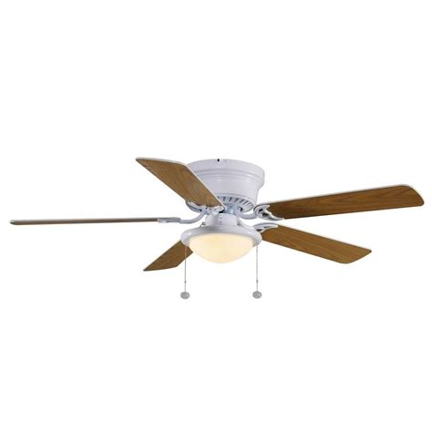 Low Profile Ceiling Fan Home Depot by Hton Bay Hugger 52 White Ceiling Fan Low Profile Flush