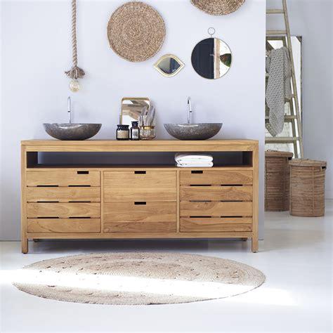 chambre bois massif contemporain meuble salle de bain vente de meubles en teck serena xl