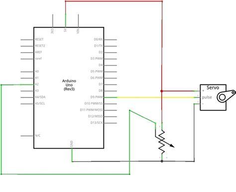 analog input to servo motor using arduino theorycircuit do it yourself electronics projects