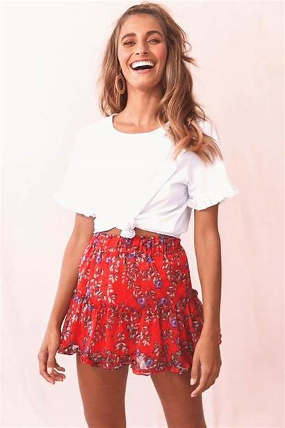 Skirt Selfie Wide Leg Leslie Nancy Teens
