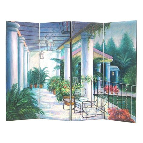 wayborn wall room divider screen outdoor patio room
