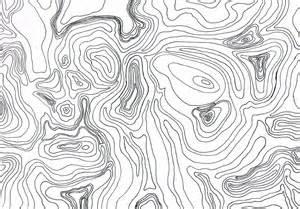 Contour Lines Topographic Map