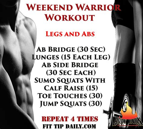 Weekend Workout Routine Bring Out Your Inner Warrior