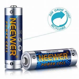 Neewer 48 Pack Count LR6 Alkaline AA Zinc-manganese ...