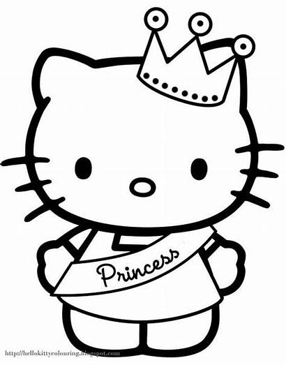 Kitty Hello Colouring Coloring Pages Well Sheet