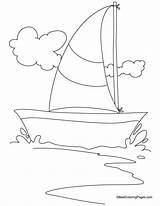 Yacht Coloring Sailing Pages Drawing Printable Bestcoloringpages Sheets sketch template