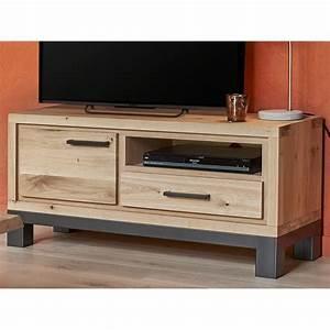 Petit Meuble Tele : petit meuble tv 1 porte forest en ch ne 100 massif ~ Teatrodelosmanantiales.com Idées de Décoration