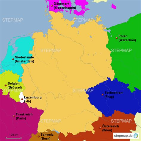 stepmap deutschlands nachbarlaender landkarte fuer