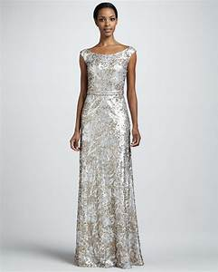 Silver champagne sequin long wedding guest dress onewedcom for Sequin dress for wedding guest