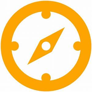 Free orange compass icon - Download orange compass icon