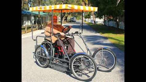 Four Wheel Electric Wheelchair Carrier Bike