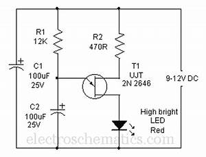 mock flasher led circuit With related circuits simple 555 led flasher 555 led flasher one transistor