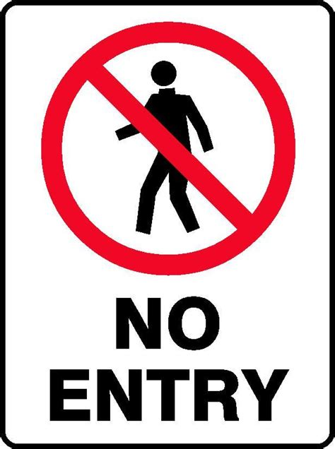 entry sign  workplace safety equipment signs