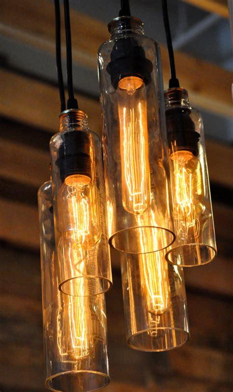 custom listing for voss bottle chandelier recycled