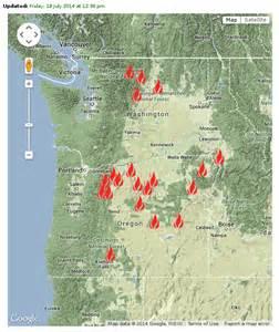 Map of Current Fire Near Spokane WA