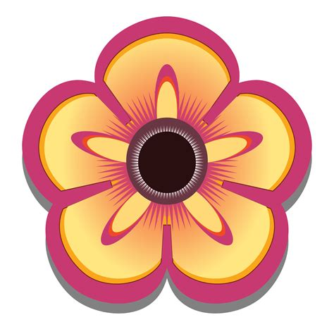 Clip Art Abstract Flower 3 Scalable