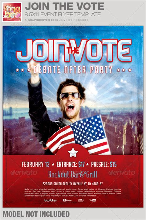 voting flyer templates free join the vote event flyer template by loswl on deviantart