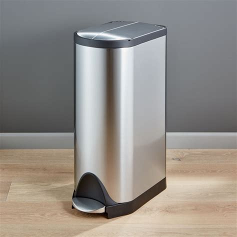 simplehuman  liter gallon stainless steel butterfly