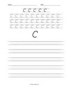 Cursive Writing Worksheets Letter C