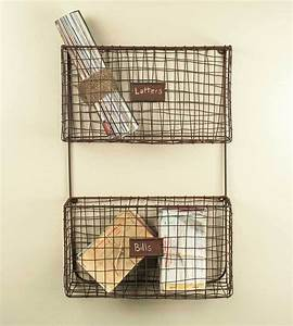 new primitive rustic wall mount wire letter holder mail With wire letter holder wall