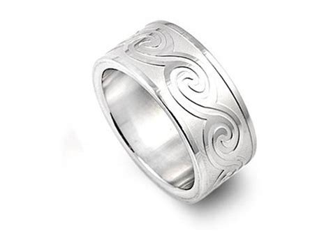 Stainless Steel Women's Men's Plain Wedding Ring Unique
