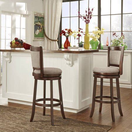 Home Bar Colors by Weston Home Swivel Bar Height Stool Cherry