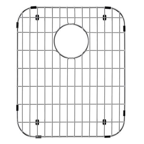 vigo 14 in x 17 125 in kitchen sink bottom grid in
