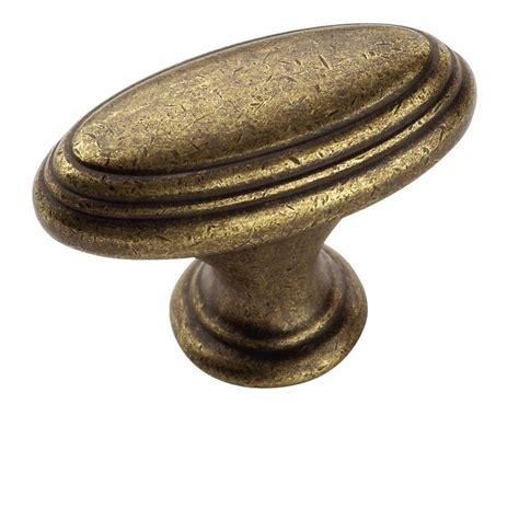 brass kitchen knobs amerock mulholland 1 7 16 in rustic brass cabinet knob