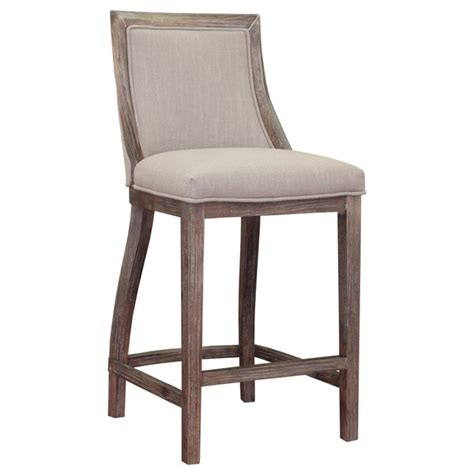park avenue beige linen counter stool overstock shopping