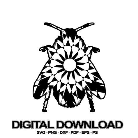 Bee mandala svg, mandala bee svg files for silhouette and cricut. Bumblebee Mandala SVG November Collection Digital Download ...