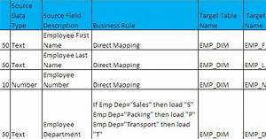 what is etl mapping document a real time example big With etl data mapping document