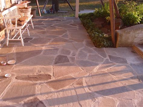 cement flagstone patio flagstone what to use sand cement or gravel devine escapes