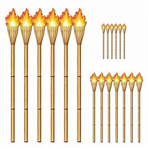 Mottoparty 50er Deko : dekofolie bambusfackeln 9er pack 3 veschiedene gr en hawaii deko beachparty deko ~ Sanjose-hotels-ca.com Haus und Dekorationen