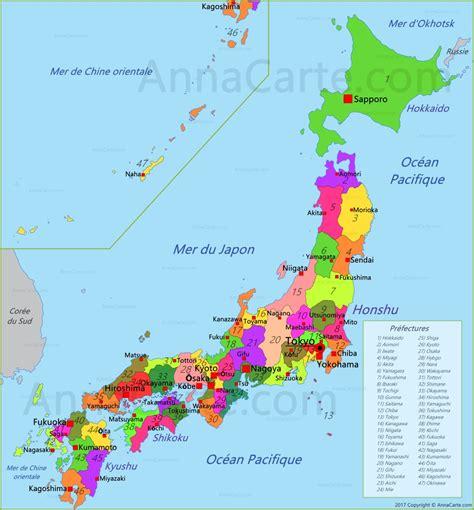 Nouvelle Carte Du Monde Japonais by Carte Japon Annacarte