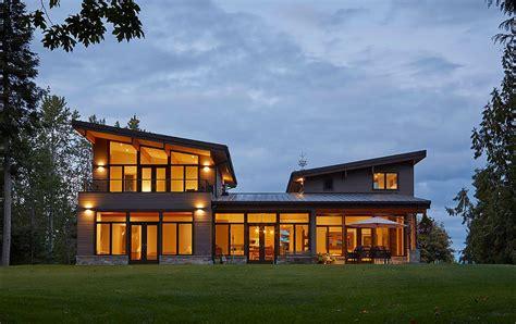 cascade  modern home  butterfly roof  images lindal cedar homes cedar homes