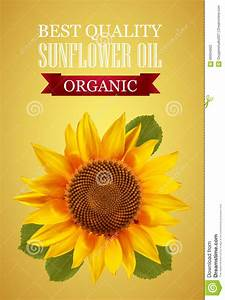 Sunflower Oil Label With N Interesting Logo On A Yellow ...