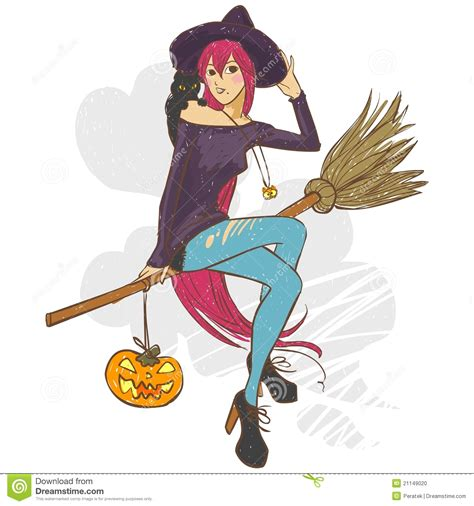 pretty witch stock vector illustration  jack witch