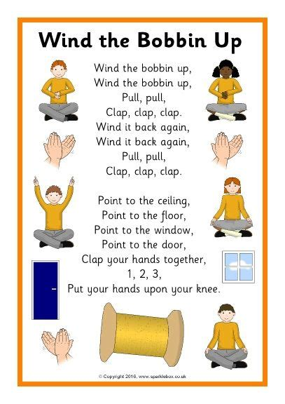 wind the bobbin up song sheet sb11504 sparklebox 133 | beedff426fa0864196c0e80de134ade4