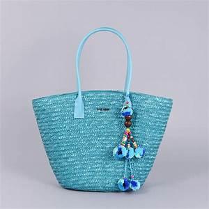 Sac En Paille Original : sac plage cabas en paille turquoise denia ~ Melissatoandfro.com Idées de Décoration