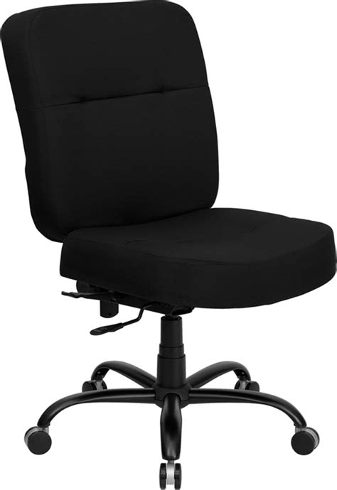 Xtra Office Chairs by Hercules Big Black Fabric Swivel Office Chair W