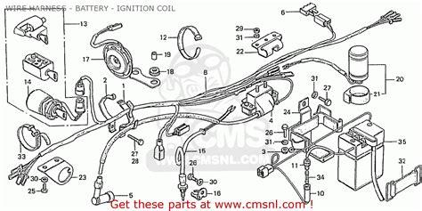 honda z50j1 monkey germany wire harness battery ignition coil schematic partsfiche