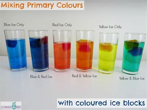 primary colours squishy bag experiment learning  kids