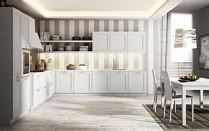 cuisine blanche contemporaine en 75 jolies photos With papier peint pour cuisine blanche