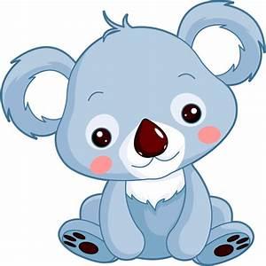stickers petit koala sticker koala bleu stickers chambre With déco chambre bébé pas cher avec papier transparent fleur